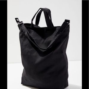 BAGGU Black Canvas Duck Bag